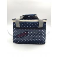 White Dots Soft Sided Insulated Cooler Bag / Insulated Neoprene Lunch Bag For Adults