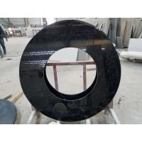 Quality Black Nero Marquina round table countertops marble table tops SGS Certification wholesale