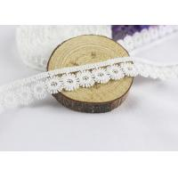 Quality Flower Water Soluble Polyester Lace Trim , Milk Silk White Lace Ribbon By The Yard wholesale
