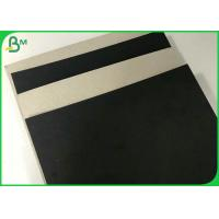 Quality 1.5MM 2MM Black Laminated Paper Cardboard With Gray Without Lamination Back wholesale