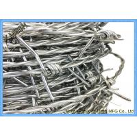 China Double Strand Galvanized Barbed Wire For Security Fencing And Barriers on sale