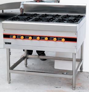 China Floor Type LPG Gas Cooking Range / Gas Burner Range BGRL-1280 For Restaurant on sale