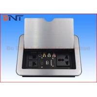 Quality HDMI Conference Room Table Electrical Outlets , Flip Up Desk Mounted Power Sockets wholesale