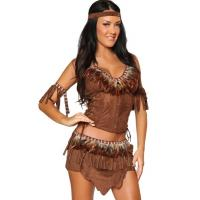 Quality Light Feather Indian Costume Party Adult Costumes with Embroidery Logo wholesale
