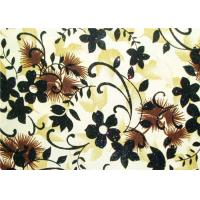 Quality Beautiful Floral Flocked Fabric , Mattress / Toy / Clothes Fabrics wholesale