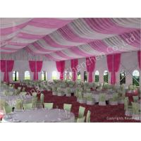 Quality 300 People Luxury Wedding Tents Rentals Aluminium Frame Marquee With Transparent PVC Windows wholesale