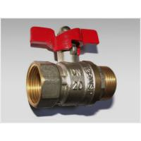 Quality butterfly handle brass ball valve male+female wholesale