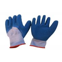 Quality Flexible Latex Coated Work Gloves 3 / 4 Dipped Crinkle OEM Service wholesale