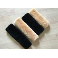 Quality Australia Wool Luxury Sheepskin Seat Belt Cover Universal Type For Protecting Shoulders wholesale