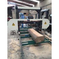 Quality Diesel / Electric MJ1300 horizontal band saw mill machine for cutting wood wholesale