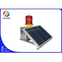 Quality AH-MS/S Medium intensity 2000cd solar power red led flashing beacon lights wholesale