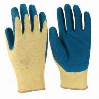 Quality Cut/Heat-resistant Kevlar Liner Gloves with Rubber/Nitrile Coating, Customized Colors are Accepted wholesale