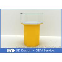 Quality Yellow Cabinets Jewellery Display Showcase / Jewelry Display Cases wholesale