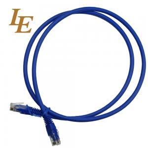 Quality Deep Blue Network Patch Cord With Al - Foil Shielding 0.5 / 1 /2 / 3 / 5m Optional wholesale