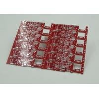 Double Sided PCB Board Fabrication Red Solder Mask PCB PD Free HASL Finish