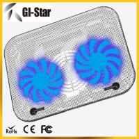 Quality Two fans ABS+metal materials laptop coolers, notebook cooling pad wholesale