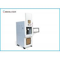 Quality Safety Cover Enclosed Cabinet Fiber Marking Machine 20 Watt For Alloy Aluminum Diamond wholesale
