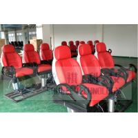 Quality 6DOF Red Motion Theater Chair Hydraulic / Vibration with Special Effect wholesale