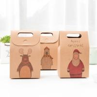Quality High-Quality Christmas Stocking Candy Kraft Gift Packaging Small Brown Paper Bags wholesale
