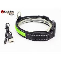 Quality Nylon USB Rechargeable LED Dog Collar , Night Safety Flash Cat Dog Collar wholesale