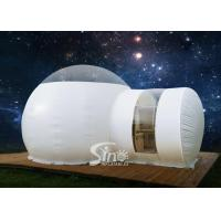 China Outdoor 5m clear top resort inflatable bubble camping tent with steel frame capsule tunnel for glamping on sale