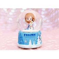 China Transparent Crystal Home Decorations Crafts , Rotating Crystal Ball Music Box on sale