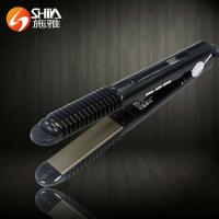Quality technology 2 in 1 white black flat iron hair straightener With LED/LCD display in china wholesale