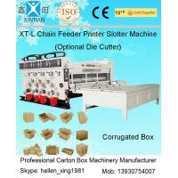 Quality Pneumatic Locking Automatic Lubrication Carton Printing Slotting Machine With Gear Pumps wholesale