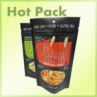 Quality 56g Spicy Chili Pili Nuts Foil Lined Stand Up Packaging Pouch With Tear Notch wholesale