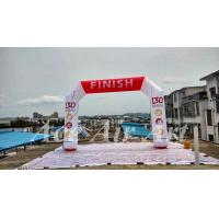 Quality custom outdoor finish line inflatable arch printed for race sport event wholesale