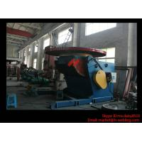 Quality 1.2T Pressure Vessel Pipe Rotary Welding Positioner With Worktable Revolving And Tilting Type wholesale