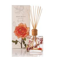 Cheap Essential Oil Wood Lid Glass Bottle Reed Diffuser Gift Set For Decoration for sale