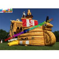 China 0.55mm Pvc Giant Inflatable Pirate Slide Cute Clown Attractive Inflatable Boat For Kids on sale