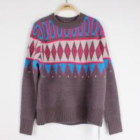 China Casuel Jacquard Sweaters For Women Aran Christmas Knit Jumper  Knit Pattern on sale