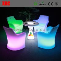 China Led Bar Chair Led Furniture Led PE Table And Chairs on sale