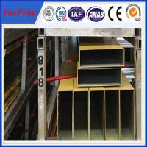 Quality 6000 series hollow bar aluminium profile, Powder coated extruded aluminium square tube wholesale
