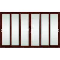 Quality White, champagne aluminum alloy sliding glass doors with double-track sliding function wholesale