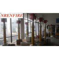 China 6m fire truck vehicle mount pneumatic telescopic mast light tower - tilt and turn unit- remote control-inside wires on sale