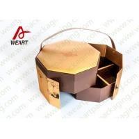 Buy cheap Golden Coated Customized Cardboard Gift Boxes With Lids CMYK Printing product