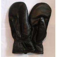 Quality men sheepskin leather gloves accept custom LEATHER MITTEN wholesale