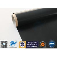 Quality Black Fire Resistant PTFE Coated Fiberglass Fabric 0.25mm 520 g / m2 wholesale
