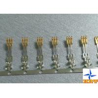 Cheap brass material Gold - Plated Signal Wire To PCB crimp Connectors terminals with 1.27mm Ptich for sale