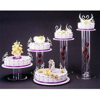Quality Acrylic plexiglass display case , wedding cake display holders stands wholesale