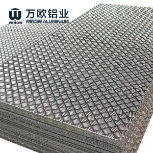 Quality 5 Bars Diamond Tread Aluminum Sheet For Automobiles Non Slip Floor wholesale