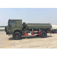 Quality Gasoline Transporting Oil Tank Truck / Petroleum Tanker Trucks 4X4 LHD SGS Approved wholesale