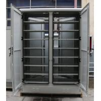 Quality Single Wall Two Bay Outdoor Battery Cabinet With 8 Layers Shelves Two Front Doors Two Back Door wholesale