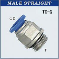 Quality Push - In Male Straight One Touch Fittings , Quick Connect Pneumatic Fitting wholesale