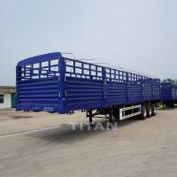 Quality Dry cargo carrier dropside 3 axles drop flatbed trailer side board semi trailer 40 ft dropsides flatbed trailer drop sid wholesale