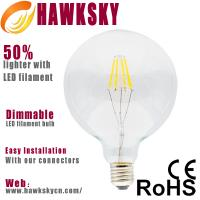 Quality G95 8w LED filament bulb,Dimmable LED Filament Bulb China Supplier wholesale