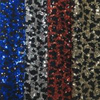 Fashionable Stretch Sequin Fabric 150gsm Shiny Color Customizable Color